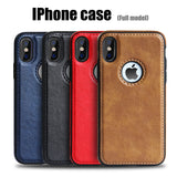 Slim Leather Case For iPhone 11pro, 11 pro max, XS Max, XR, iphone X, 8, 7, Plus, 6, 6s plus