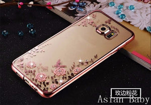 Rose Gold Bling Rhinestone Phone Cover for Huawei