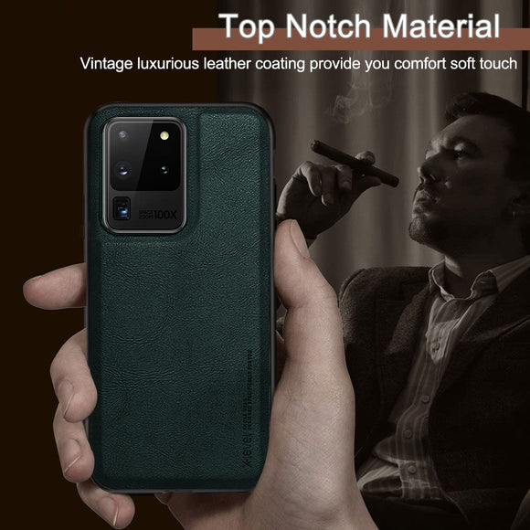 Luxury Vintage Case for Samsung Galaxy S20 Plus S20 Ultra Premium Leather