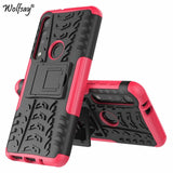 For Motorola One Macro Shockproof Rubber Hard PC Phone Case