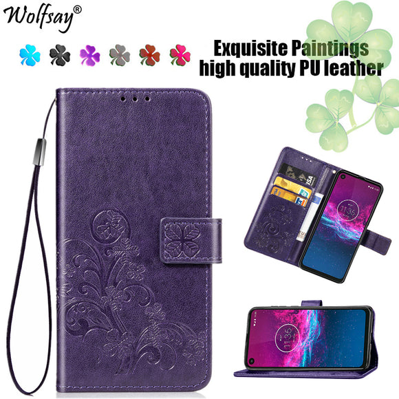 Luxury Case For Motorola One Action wallet type