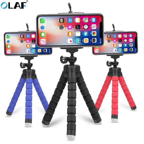 Flexible Tripod Phone Holder for iPhone 11 Pro Max Samsung