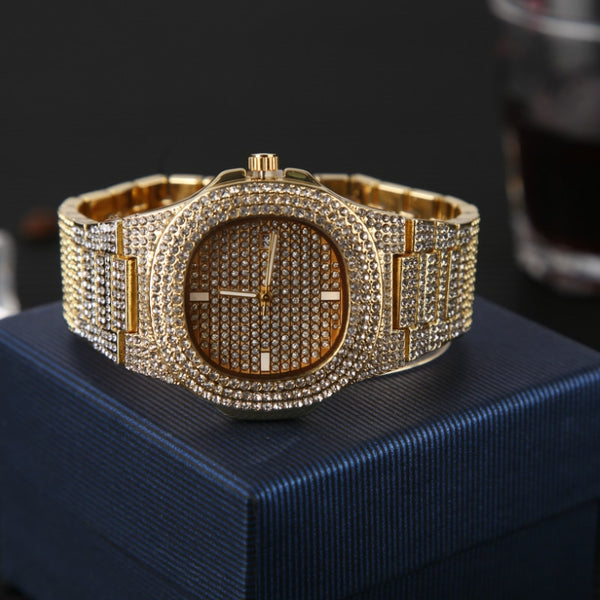 Iced Out Hip Hop Diamond Combo Set Bundle