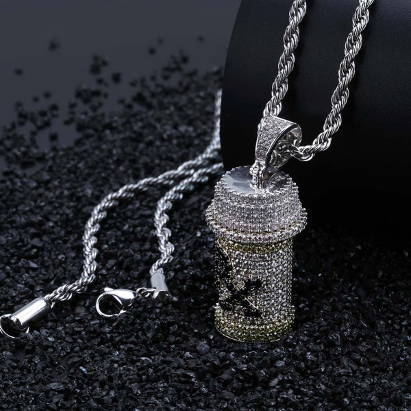Medicine Bottle Pendant Necklace