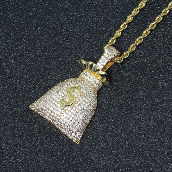 Money Bag Pendant Necklace