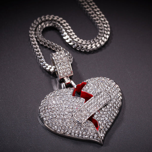 Rope Broken Heart Pendant
