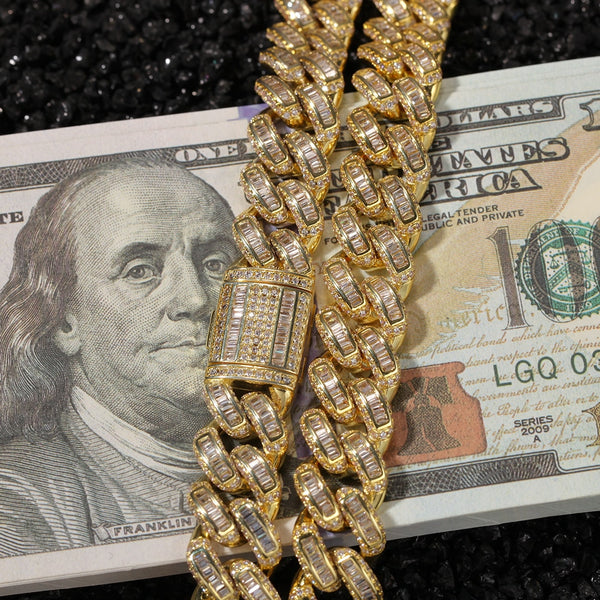 13mm Gold Cuban Link Chain