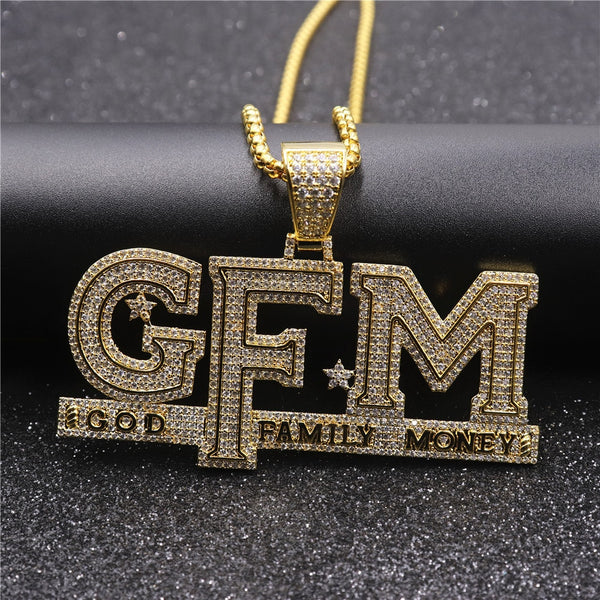 God Family Money Pendant Necklace
