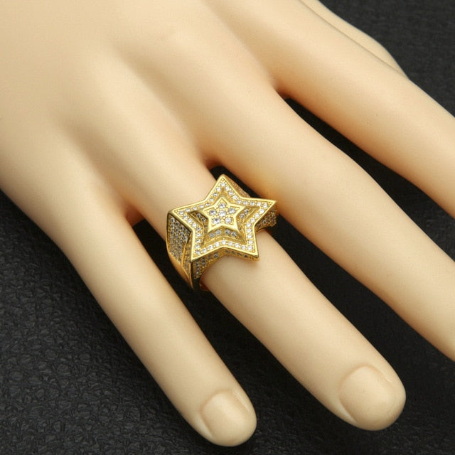 Star Hip Hop Ring