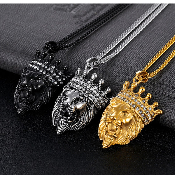 Crown Lion Pendant