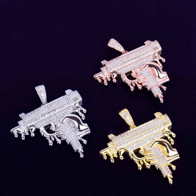 Gun Shape Pendant Necklace
