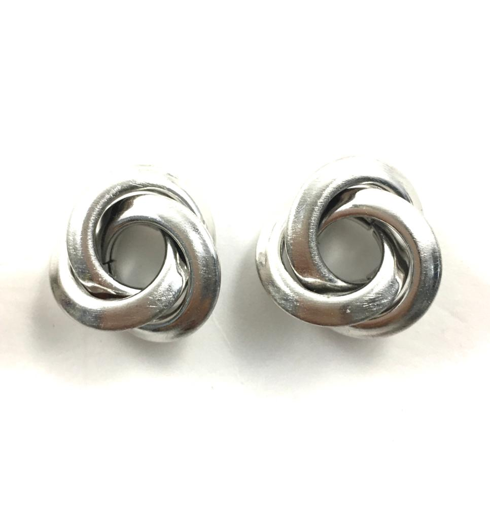 Silver Knotted Studs