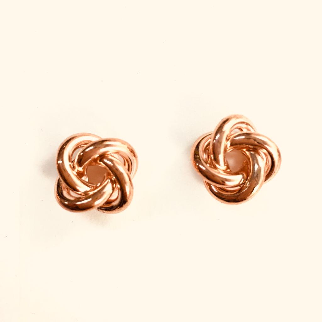 Rose Gold Knotted Studs
