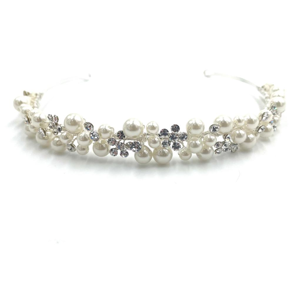Pearl  and Crystals Headband
