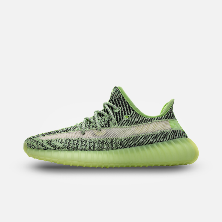 YZY 350 V2 Static 'Alien Green' Yeezys Kickked 5 Men