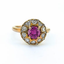 Load image into Gallery viewer, Sapphire (Pink) & Diamond Ring