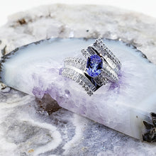 Load image into Gallery viewer, Tanzanite & Diamond Ring