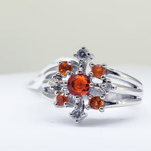 Load image into Gallery viewer, Opal (Fire) & Diamond Ring