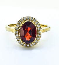 Load image into Gallery viewer, Garnet & Diamond Ring
