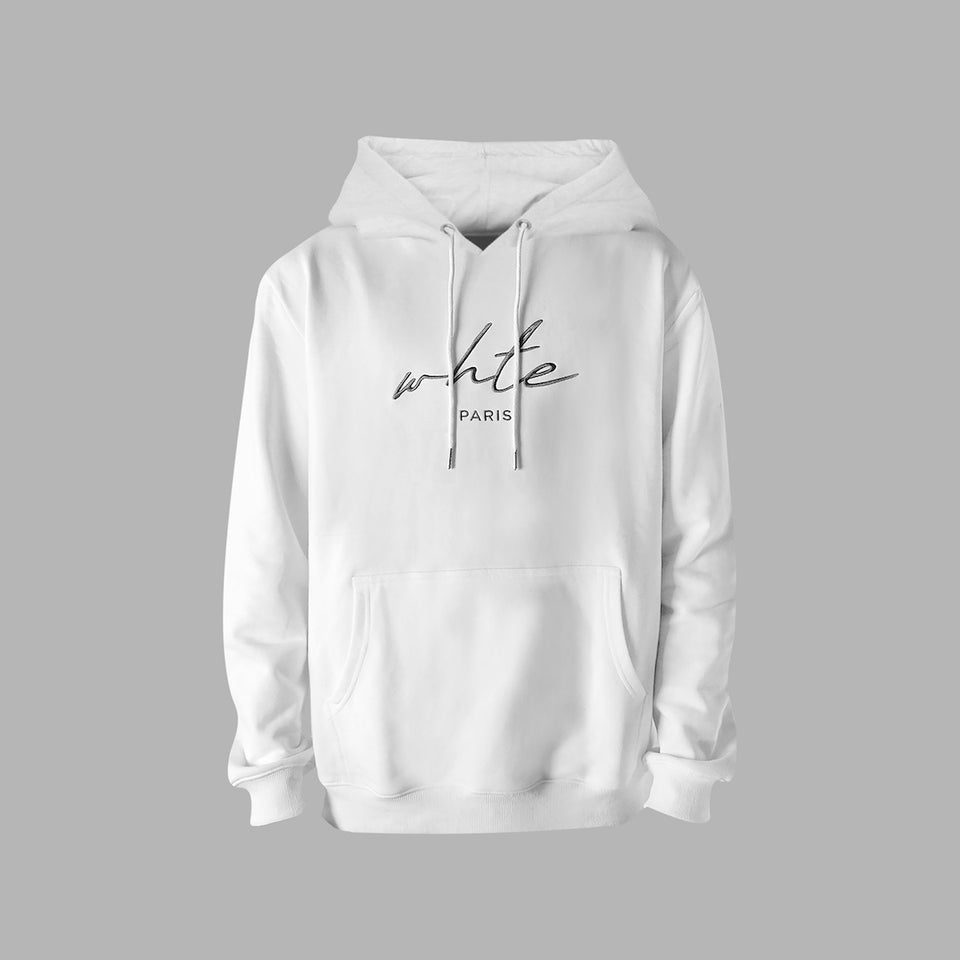 Whte Signature Hoodie