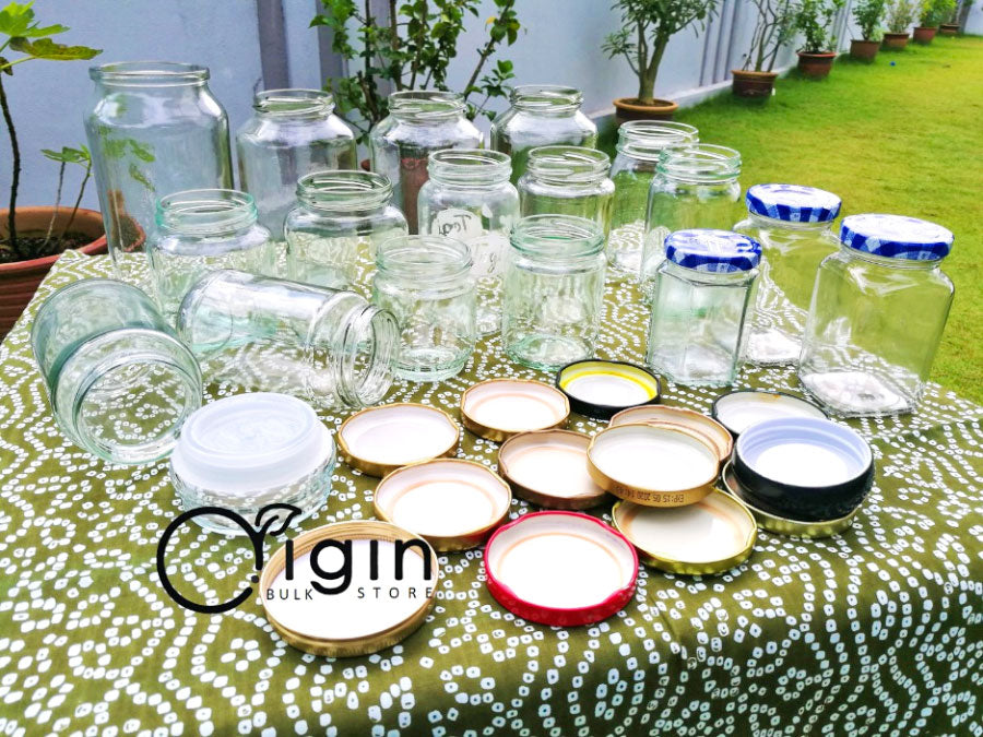 Clean jars dry outside