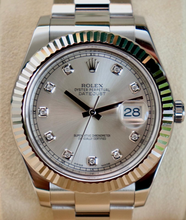 Load image into Gallery viewer, Rolex Date Just Diamond Dial