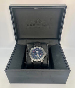 Breitling Avenger Blackbird Watch with Canvas Bracelet and Black Titanium Bezel V17311 44