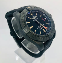Load image into Gallery viewer, Breitling Avenger Blackbird Watch with Canvas Bracelet and Black Titanium Bezel V17311 44
