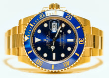 Load image into Gallery viewer, ROLEX YELLOW GOLD SUBMARINER DATE 40MM 116618LB