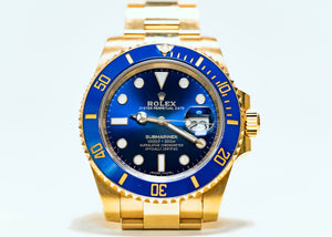 ROLEX YELLOW GOLD SUBMARINER DATE 40MM 116618LB