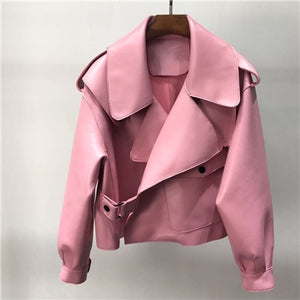 2019 Genuine Leather Jacket for Women in Various Color