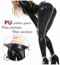 Load image into Gallery viewer, Women's High Waist PU Leather Legging