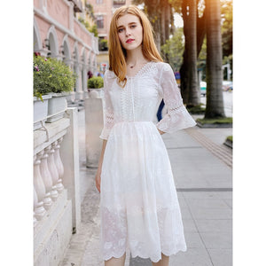 Women's Chiffon Embroidery Dress