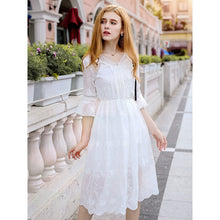 Load image into Gallery viewer, Women's Chiffon Embroidery Dress