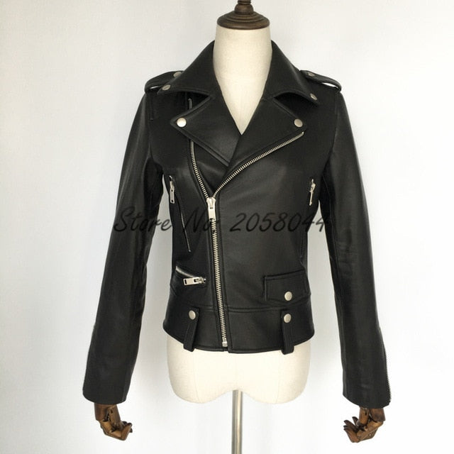 2019  Women's Stylish Genuine Leather Jacket