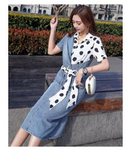 Load image into Gallery viewer, Women's Long Splicing Dress