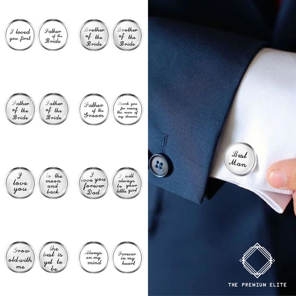Deluxe Custom Cufflinks - Perfect for Wedding, Date or Gift