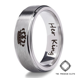 Perfect Gift for Him or Her - Stainless Couples Crown Ring