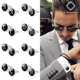 Deluxe Personalised Cufflinks - Initials on Your Sleeve