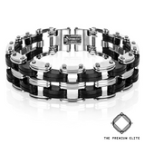 """Rogue"" Stainless Steel Double Chain Bracelet"