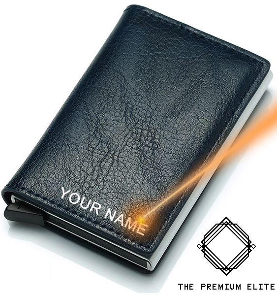 Black Personalised Laser Engraved Slimline Wallet