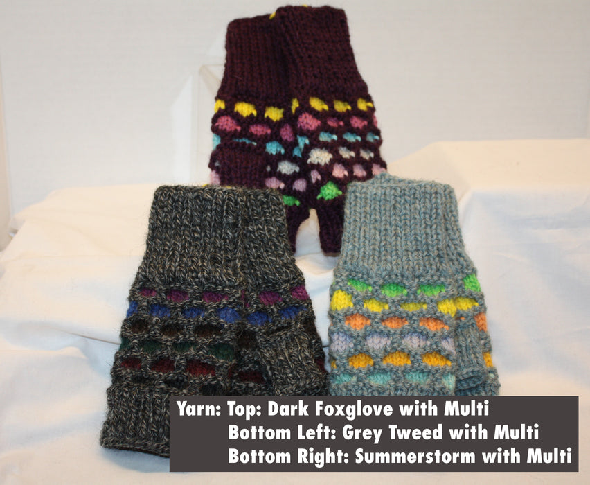 BFL99 - Bubble Fingerless Mittens