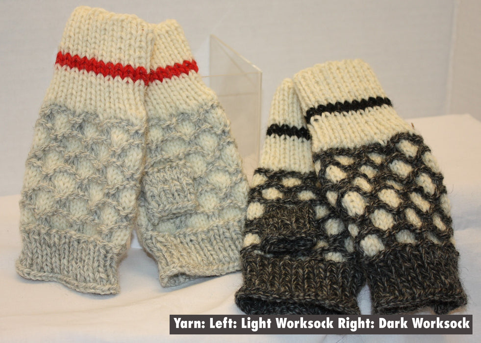 BFLWS - Work Sock Bubble Fingerless Mittens