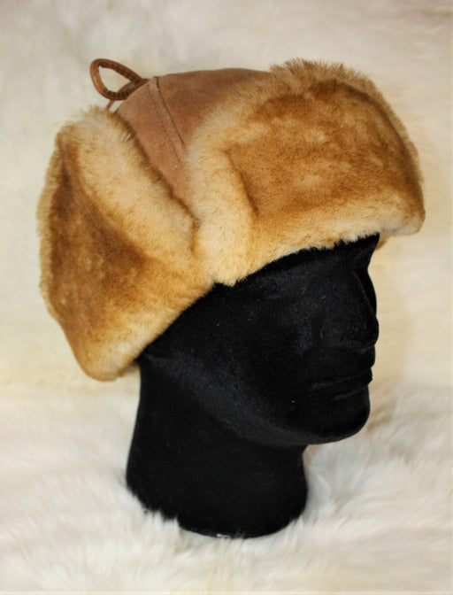 Sheepskin Mountie Hat - Beige