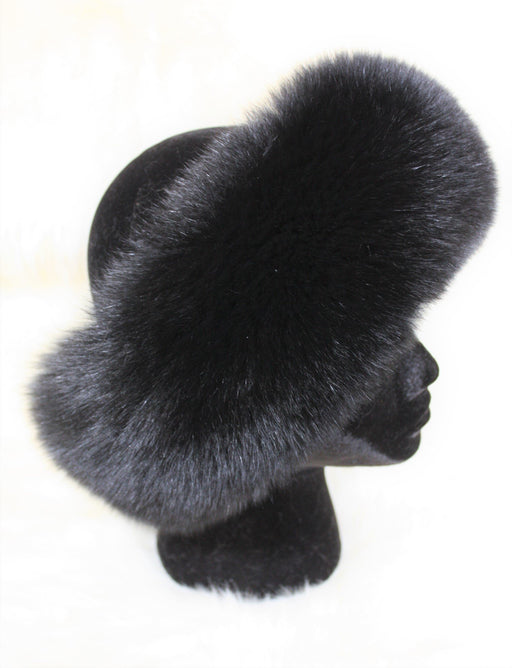 Fur Headbands - No Pom Poms Black
