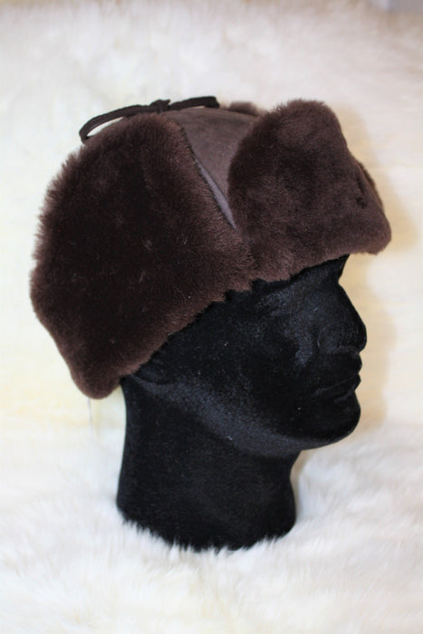 Sheepskin Mountie Hat - Chocolate Brown