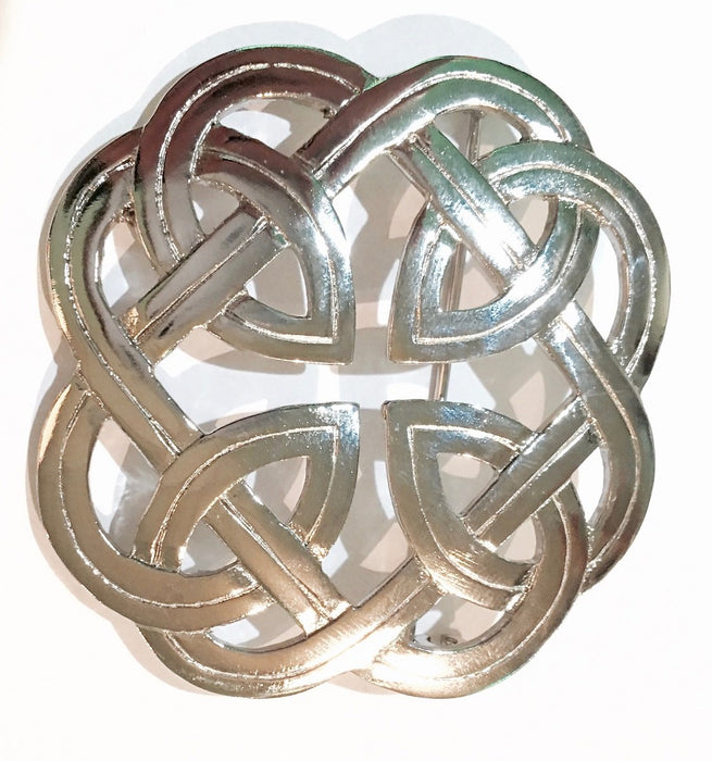 Eterenal Interlace Plaid Brooch