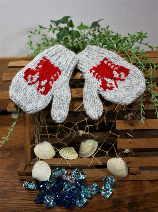 Grey Lobster Mitts