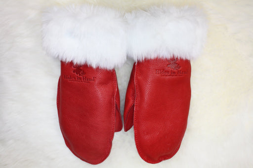 Ladies Deerskin Turnback Mitts