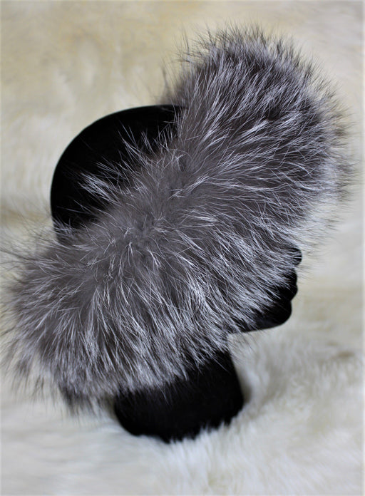 Fur Headbands - No Pom Poms Indigo